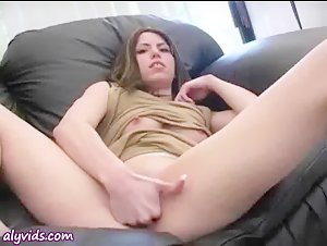 Horny chick fisting her wet pussy