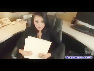 Busty Boss Gets Huge Cream Pie After Being Fucked On Her Desk