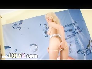 Ultra horny blonde toying snatch