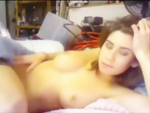 Big Tit Teen Toying Pussy